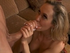 Hot lady Brandi Love with giant fake tits is giving her twat for fuck to Jordan Ash in doggy pose .