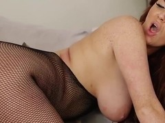 DaringSex curvy babe done Doggystyle in Fishnets