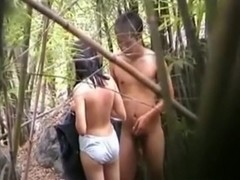 Voyeur tapes asian girls having forbidden pre-marriage sex in the forest