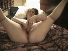 Nympho Fat Chubby college girl friend masturbating at the hotel-1