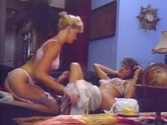 Tight ass retro lesbian cuties in hot vintage ponro