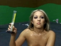 This slut just loves to have sperm in mouth
