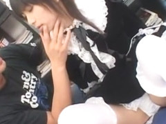 Crazy Japanese model Rin Suzuka in Horny Doggy Style, Stockings/Pansuto JAV movie