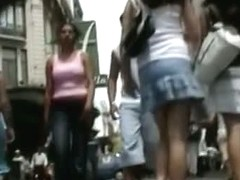 Many chicks in video full of upskirt panties action