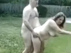 Some backyard midday pleasure for the neighbors to watch