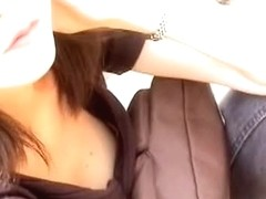 Japanese babe with small titties is filmed on camera
