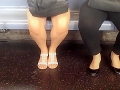 Candid bare legs and feet