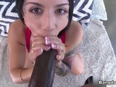 Katrina Jade in Katrina Jade Takes a Black Snake! Video