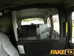 FakeTaxi: Super sexy blond touist with large melons pays her way