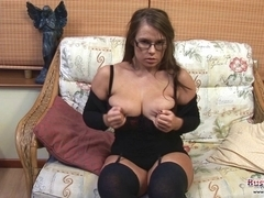Gina G Plays With Her Huge Bumpers