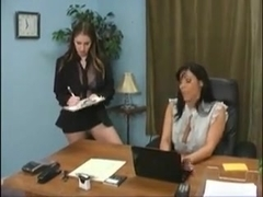 Two female employees punishing their bitchy boss