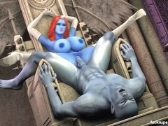 Blue commander smashes the Blue Beauty in the dungeon