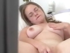 Busty Babe Caught Masturbating