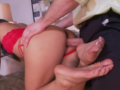 Fabulous pornstar Angelina Chung in Best Big Ass, Foot Fetish sex movie