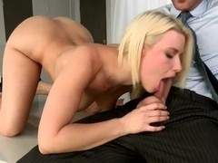 Bootylicious blonde Annika Albrite sucks Johnny Sins