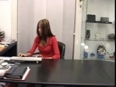 Shemale,girl & stud fucking at the office
