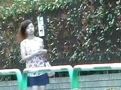Silky slim Asian cutie gets exposed by some very creative dude