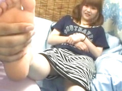 Hottest Japanese chick in Incredible Threesomes, Cunnilingus JAV clip