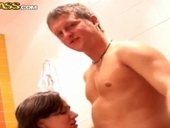 Eliss gets on the dick as she walks out of bathroom