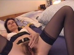 Hairy cunt wife and her sexy toys