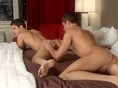 Lovely looking twinks in passionate action