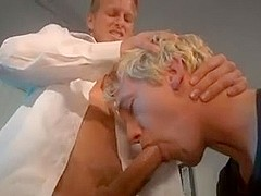 Blonde twinks in balls deep gay anal action