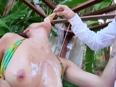 Bruce Venture fucks squirting asian Jayden Lee