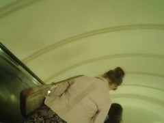 up the skirt in the Moscow Metro