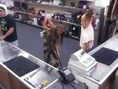 Slutty chick make money by pawning her pussy and gets fucked