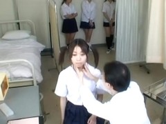 Cute Asian bitches exposed in voyeur medical video