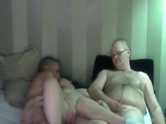 Sharing my hot wife. husband jerks off, while watching his wife getting fucked by a friend.