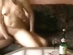 Horny couple on a sofa at home part.2