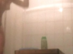 Girl in shower spy cam clip sexy bushy cunts show