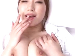 Horny Japanese slut Ai Sayama in Amazing Handjobs, Nurse/Naasu JAV video