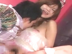 Exotic Japanese model Sakura Katagiri, Rika Matsumoto in Crazy Stockings/Pansuto, Cunnilingus JAV .
