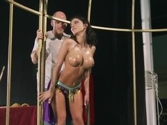 Amazing Aleksa Nicole gets oiled and assfucked hard