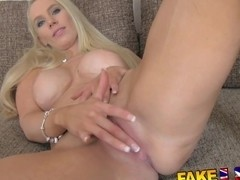 FakeAgentUK South African babe put through porn paces
