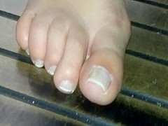 Gorgeous brazilian candid foot in details (part 2)