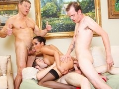 Wolf Hudson, Jay Huntington, Chad Diamond, Jessica Fox in Transsexual Gang Bangers #17