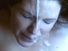 Mature I'd Like To Fuck acquires a massive spunk blast on her face