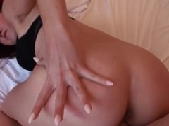 Yummy gal Josi Valentine rides on a large cock