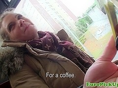 Picked up busty euro pussyfucked after bj