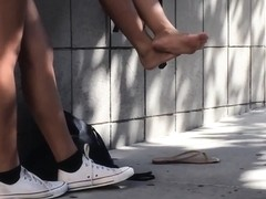 Candid Bare Asian Teen Feet