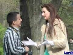 Drilled english milf jizzed in mouth