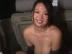 Nachi Kurosawa Gives A Titfuck In A Car