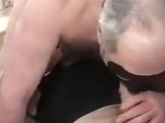 Old pair fuck a younger dude in ottoman.