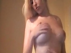 teasing my tits with a oily massage