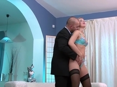 Fabulous pornstar Cindy Dollar in horny blonde, european adult movie
