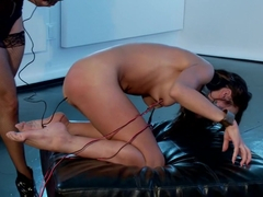 Sexy MILF dominates Cute All Natural Asian LIVE on Electrosluts!