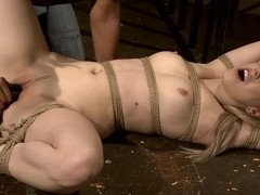Mandy Bright force a blonde babe to blow a dildo